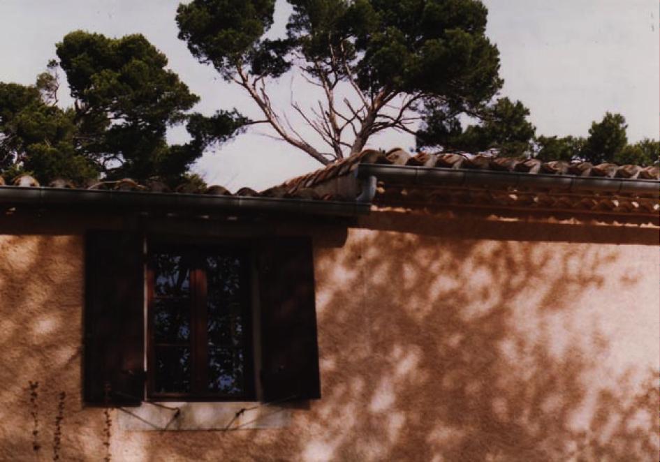 La fenêtre de la chambre de Pierre.